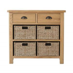 Chiltern Oak 2 Drawer 4 Basket Unit