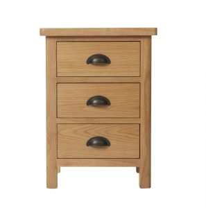Chiltern Oak 3 Drawer Bedside
