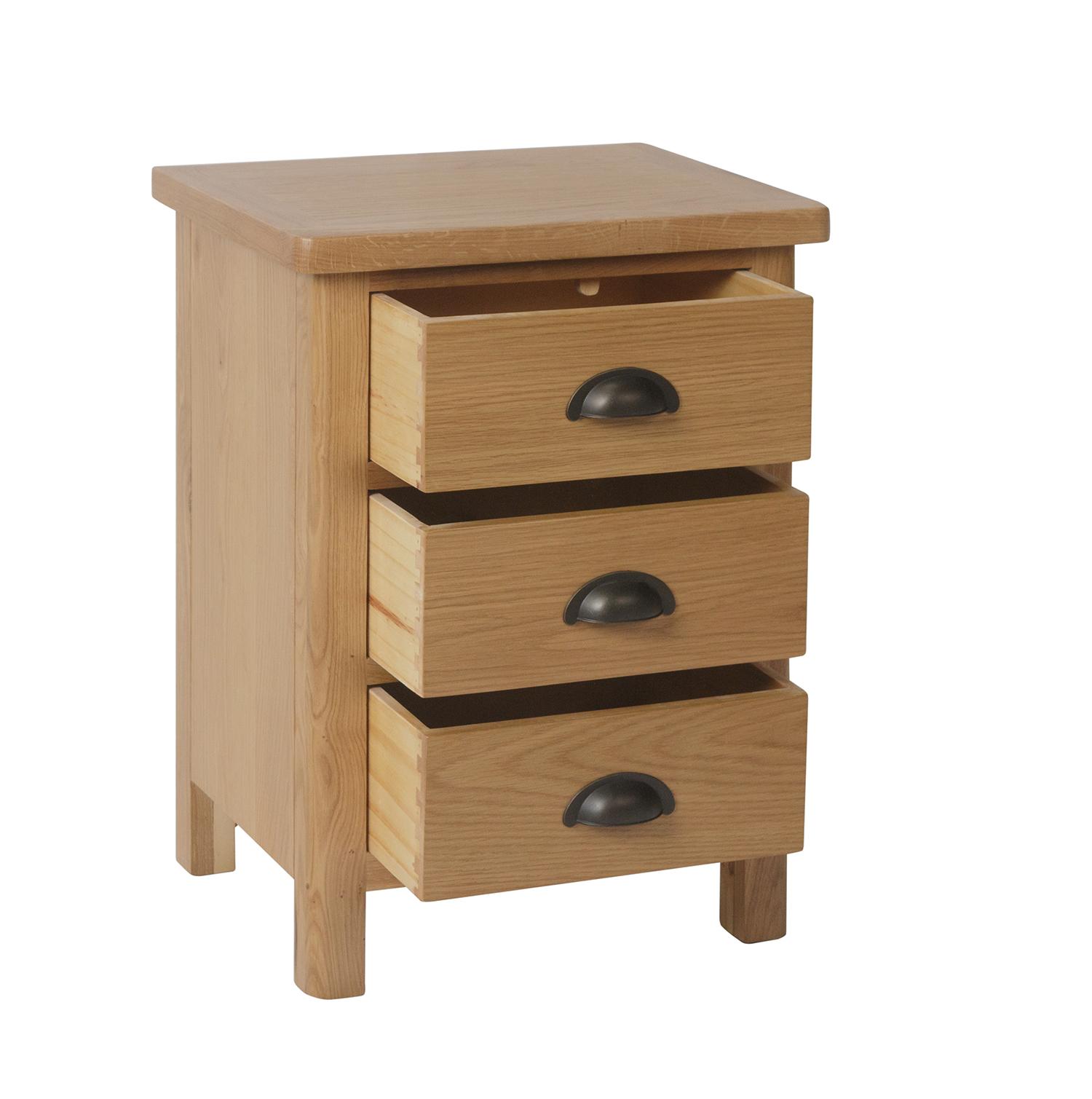 Chiltern Oak 3 Drawer Bedside