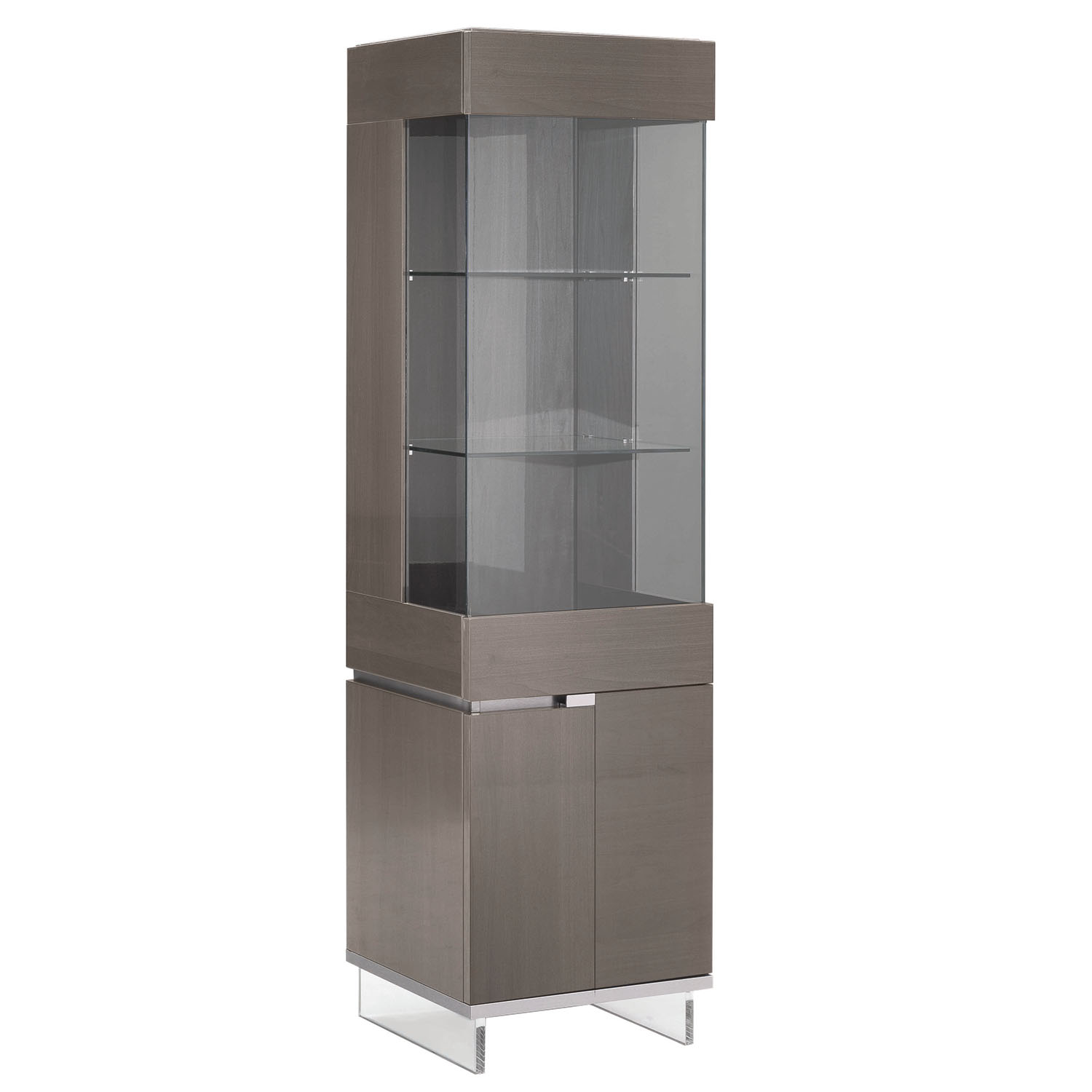 Mercury 1 Door High Gloss Right Curio Display Cabinet