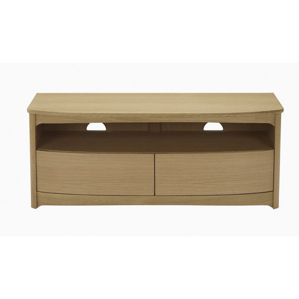 Nathan Shades Oak Shaped TV Unit with drawers 5935