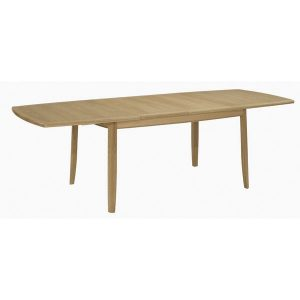Nathan Shades Oak Extending Boat Shaped Dining table on legs 2805