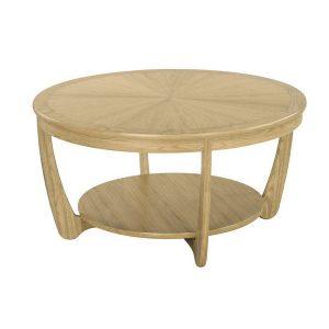 Nathan Shades Oak Sunburst Round Coffee Table - 5925