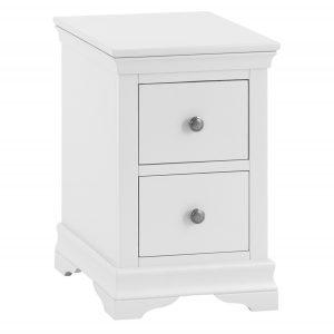 Croft White Bedside Cabinet
