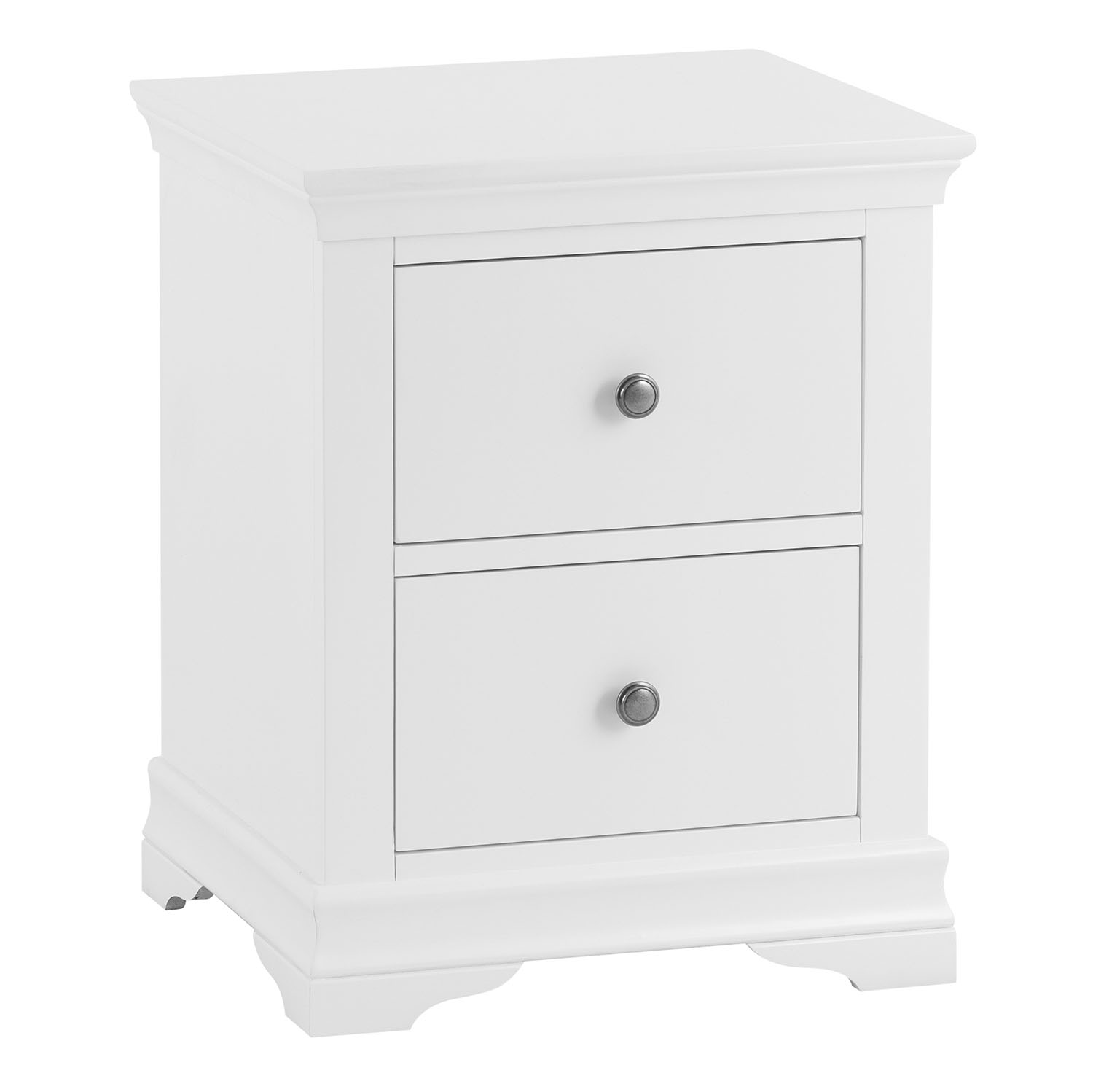 Croft White Large Bedside Cabinet