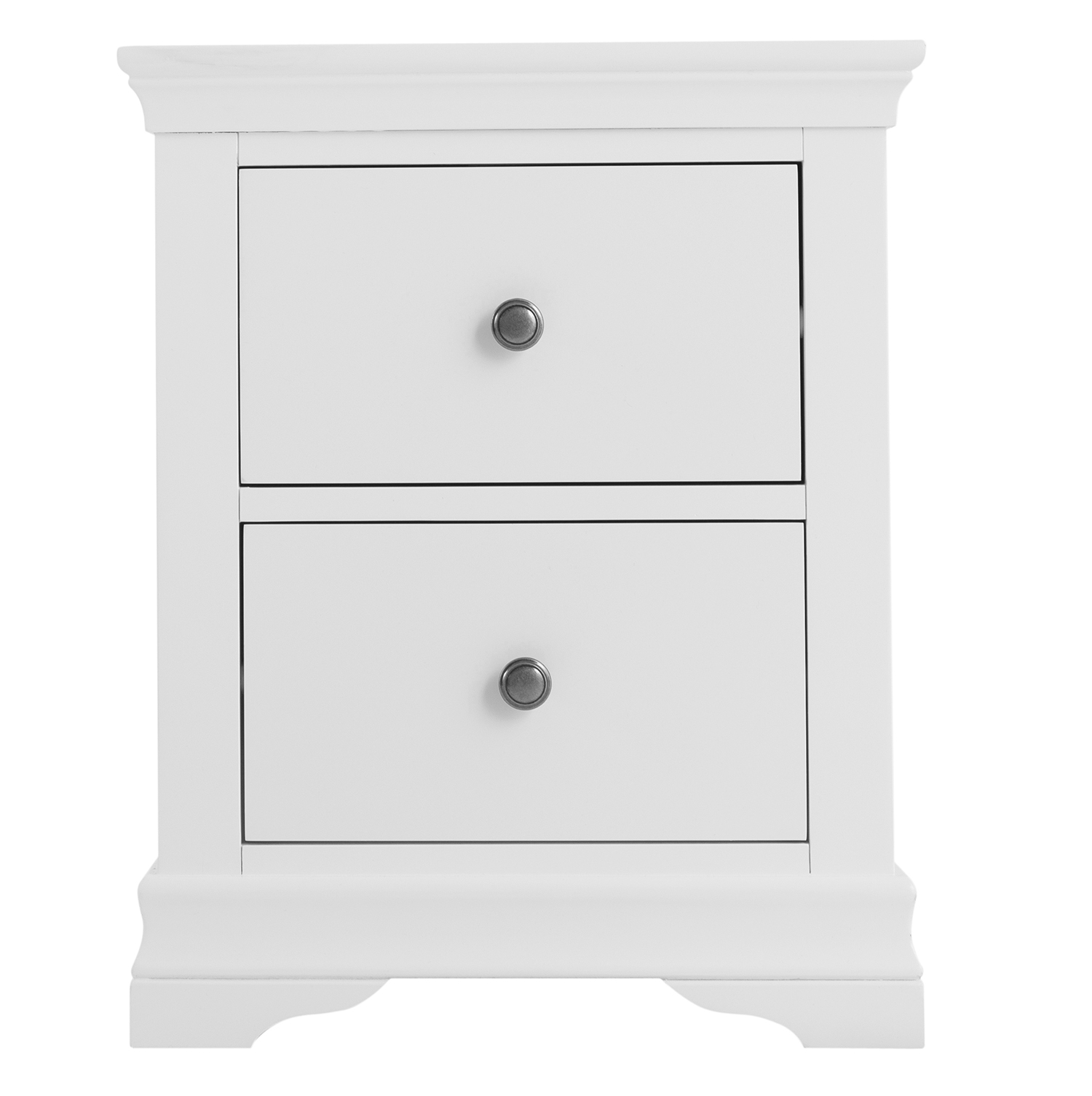 Croft White Large Bedside Cabinet