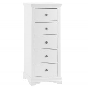 Croft White 5 Drawer Wellington