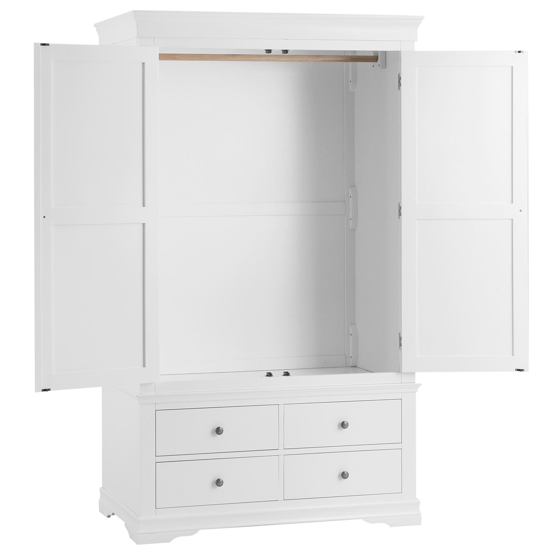 Croft White 2 Door 4 Drawer Wardrobe