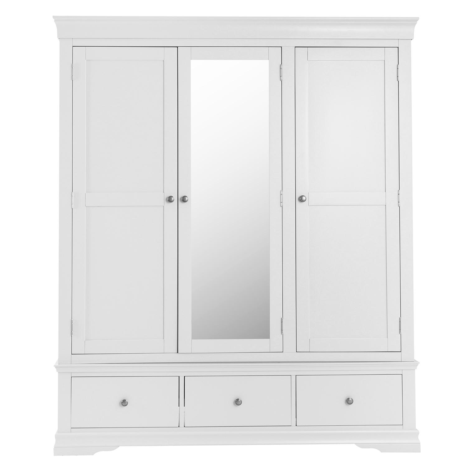Croft White Triple Wardrobe