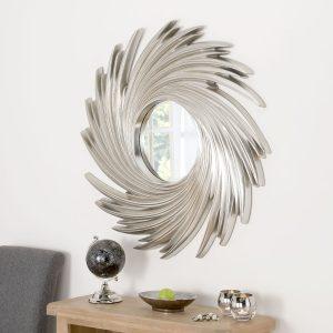 Art Deco Swirl Mirror 39 x 39