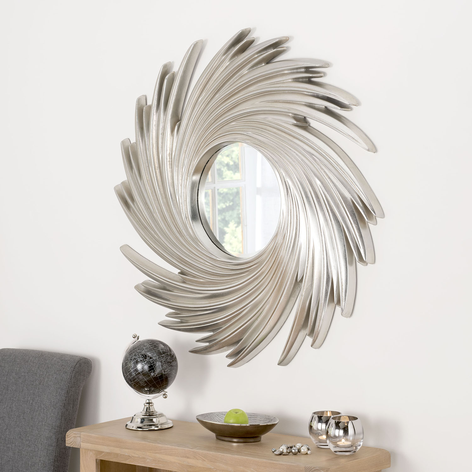 Art Deco Swirl Mirror 39 x 39