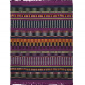 Biederlack Broken Lines Fringe Berry Throw
