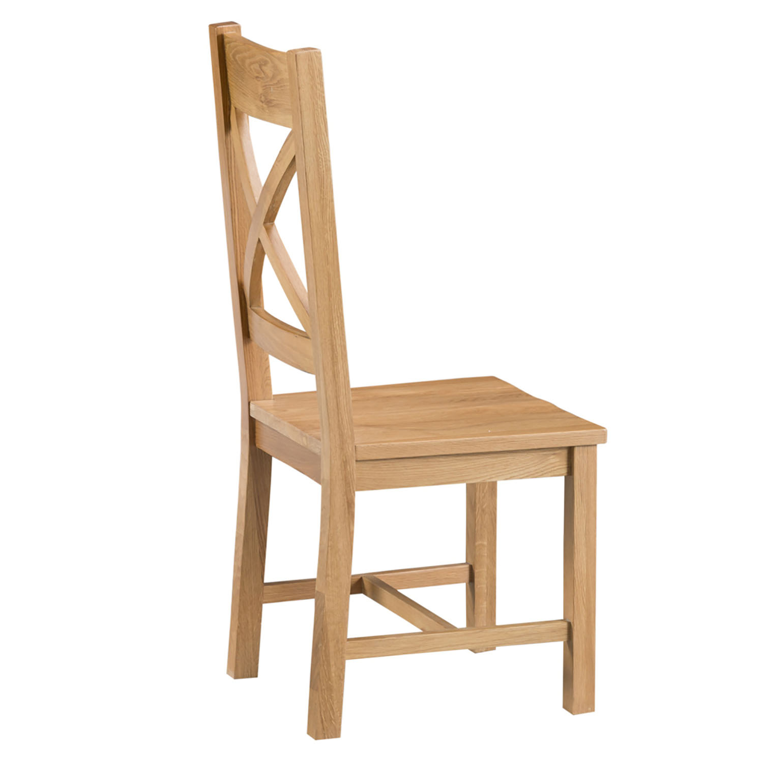 Oakley Rustic Cross Back Chair with Wooden Seat