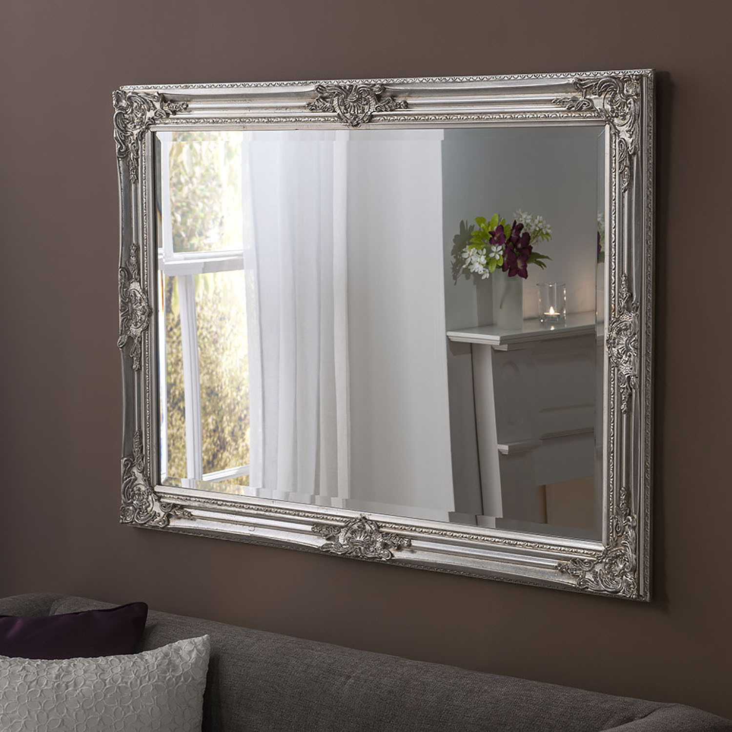 Florence Rectangle Silver 41x29