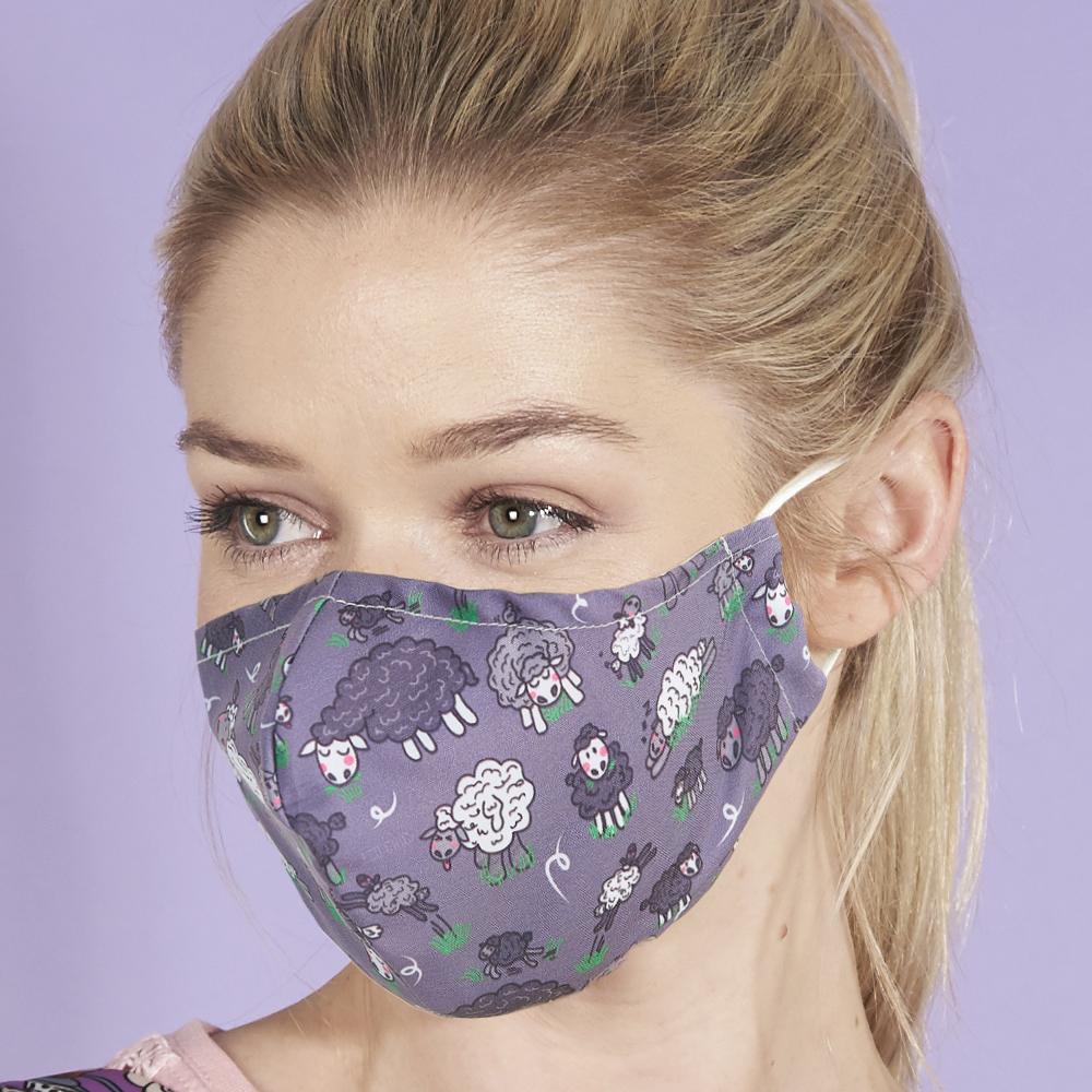 Eco Chic Reusable Face Cover Sheep