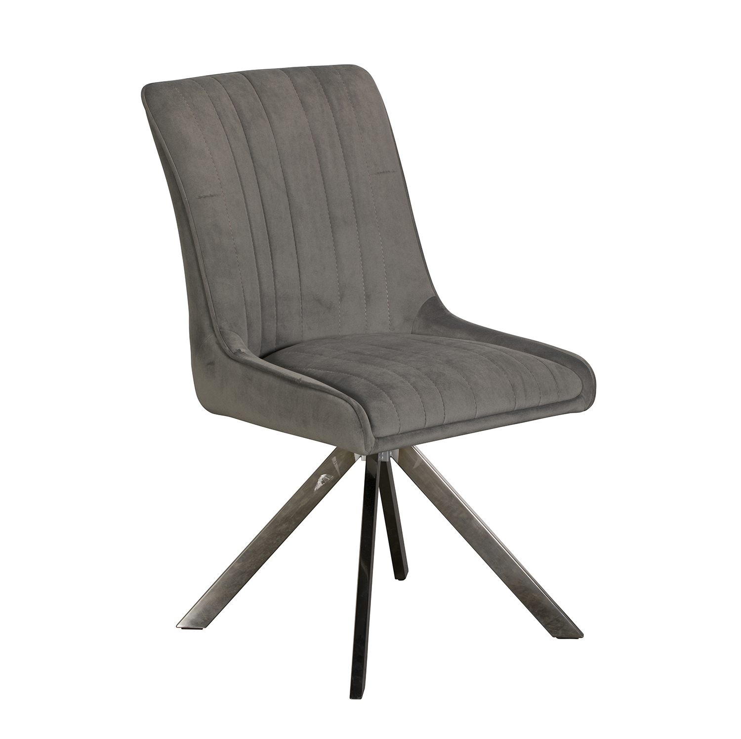 Chloe Dining Chair - Grey Velvet