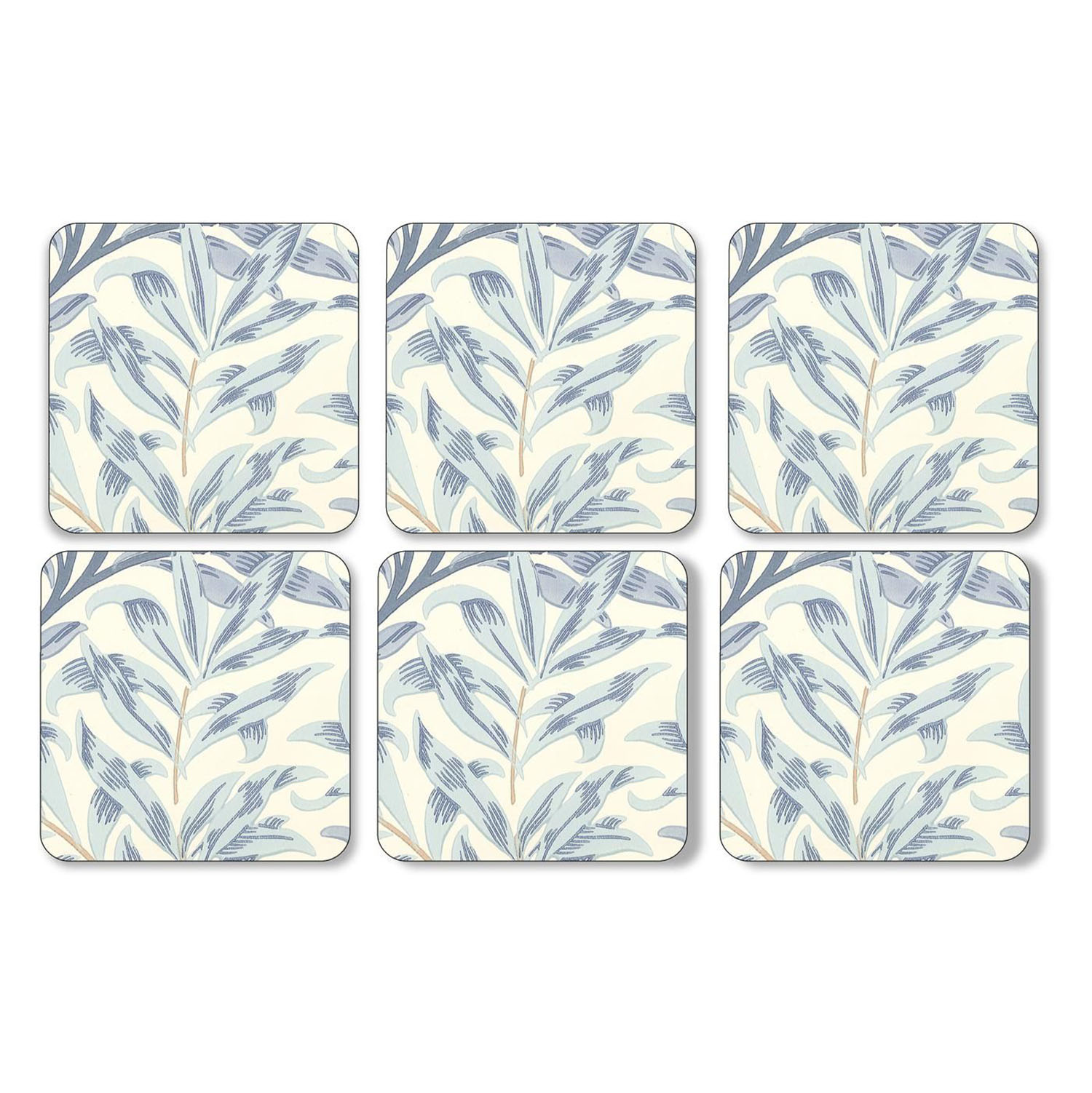 Pimpernel Willow Boughs Blue Coasters Set of 6