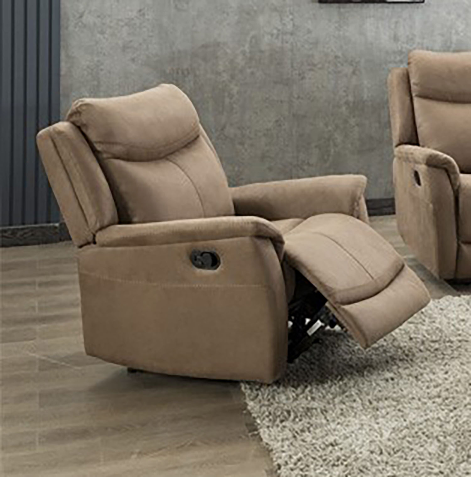 Ancona Manual Recliner - Caramel