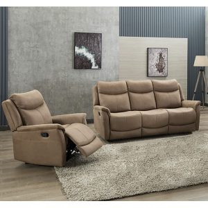 Ancona 2 Seater Manual Recliner - Caramel