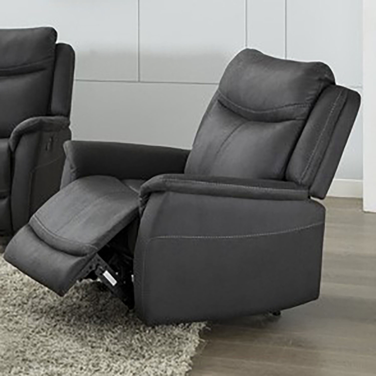 Ancona Manual Recliner - Slate