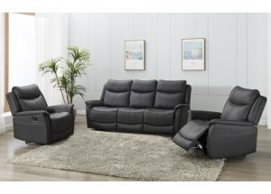 Ancona 2 Seater Manual Recliner - Slate