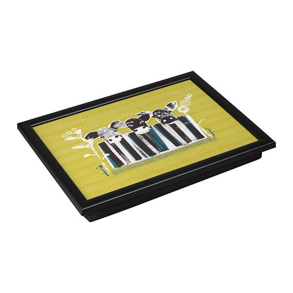 Denby Cow Lap Tray With Black Edge