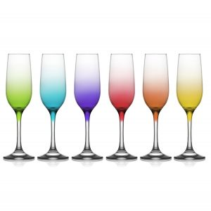 LAV Box of 6 Ombre Champagne Flutes