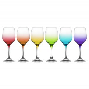 LAV Box of 6 Ombre Water/Wine Glasses