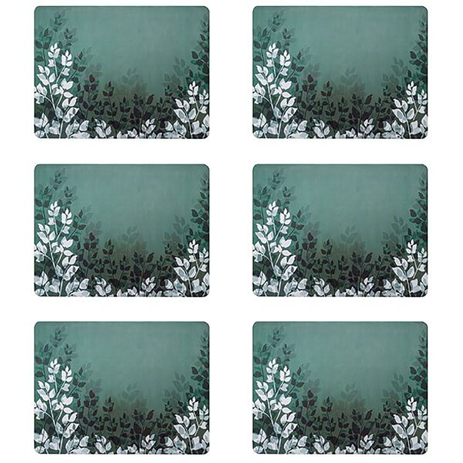 Denby Colours Set of 6 Placemats - Green Foliage