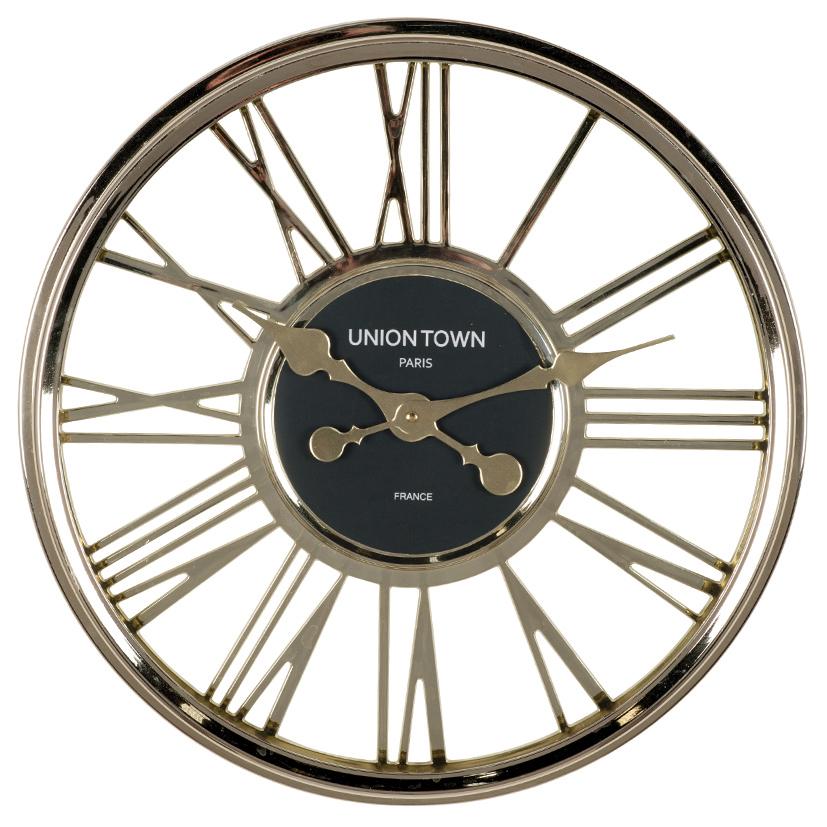 Metallic Gold Round Wall Clock