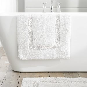 TLC Luxury Tufted Bath Mat - White
