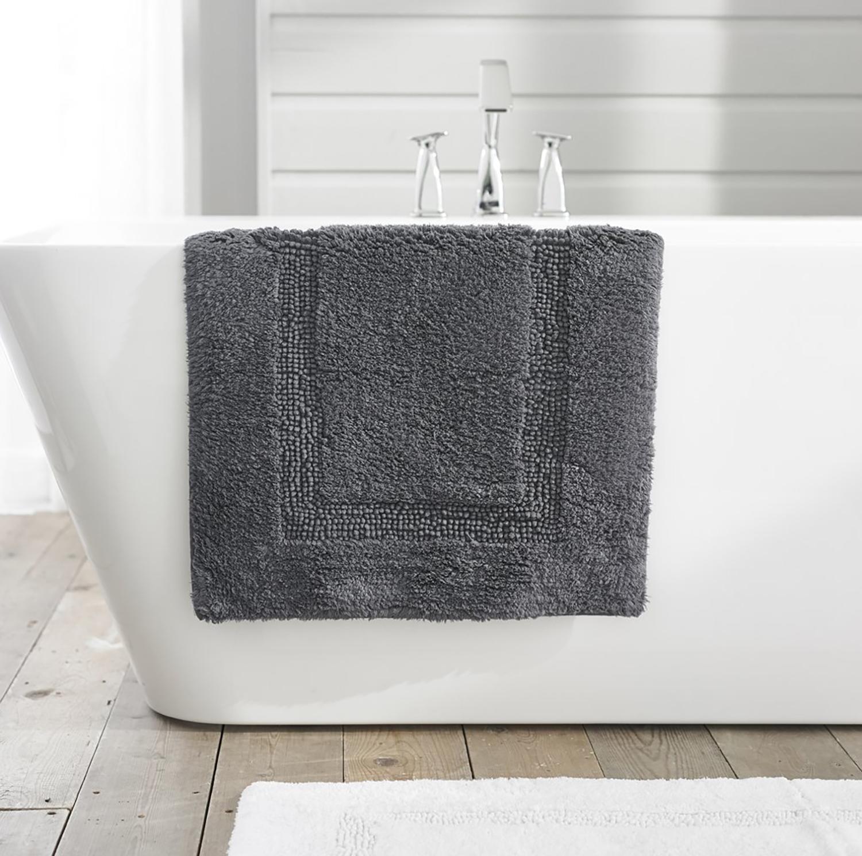 TLC Luxury Tufted Bath Mat - Charcoal