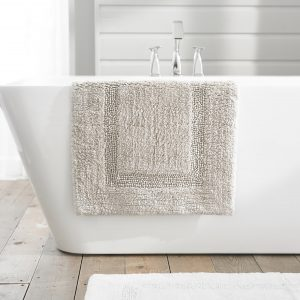 TLC Luxury Tufted Bath Mat - Silver Grey