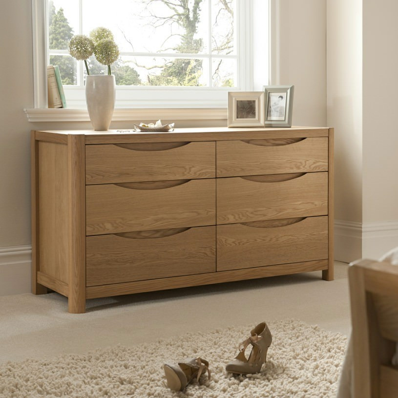 Malmo Wide 6 Drawer Dressing Chest WN24