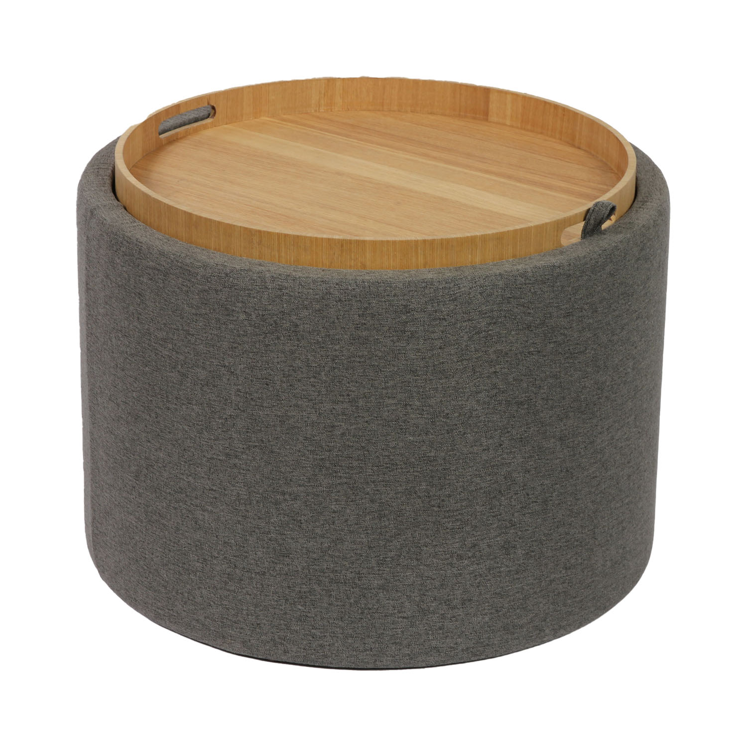Gallery Side Table with Wooden Tray