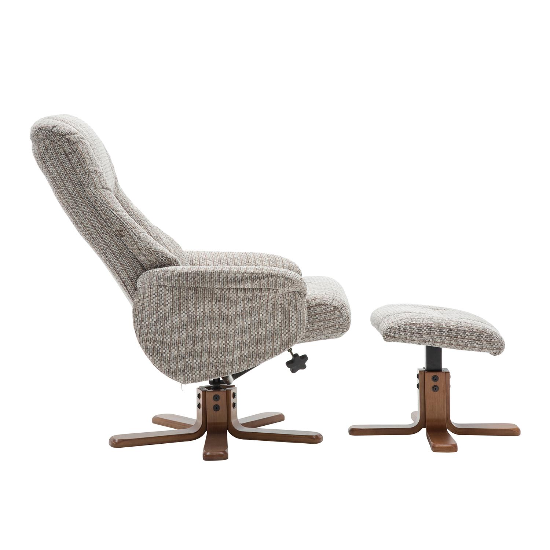 Bailey Swivel Chair & Stool -  Wheat