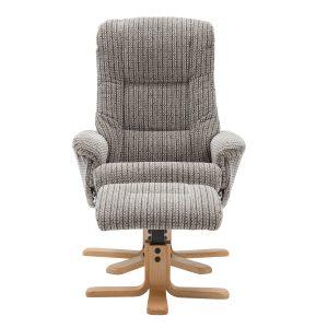 Bailey Swivel Chair & Stool Latte