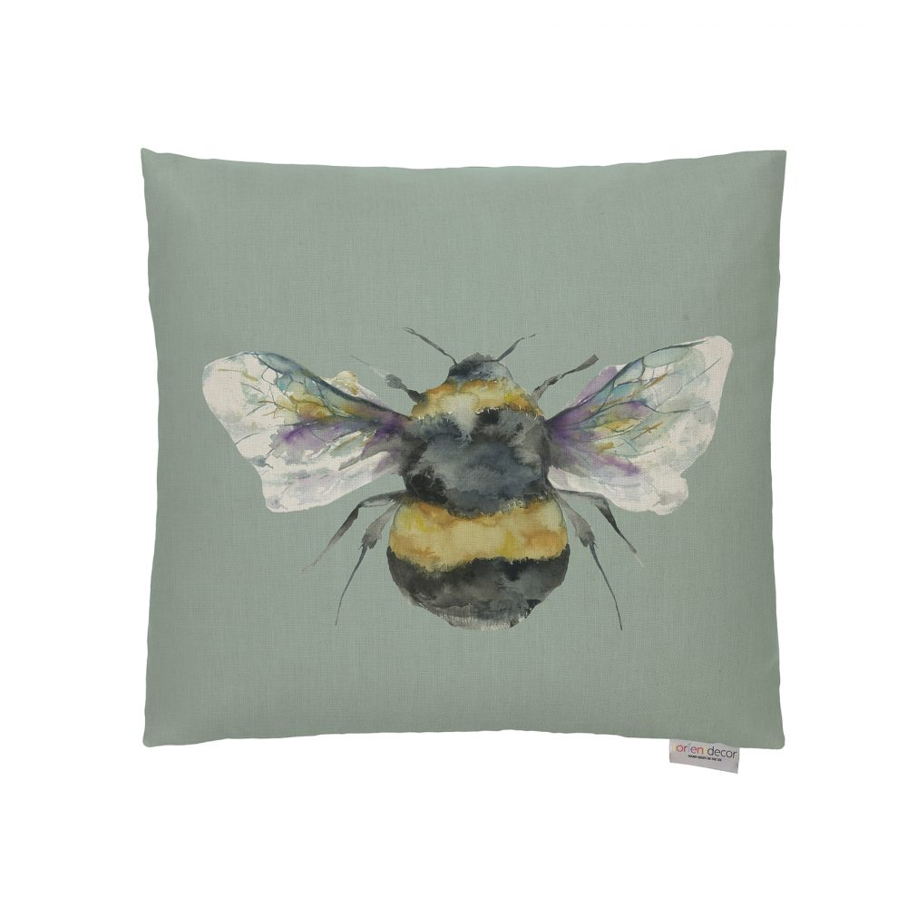Lorient Design Bee Duck Egg Cushion - 43x43