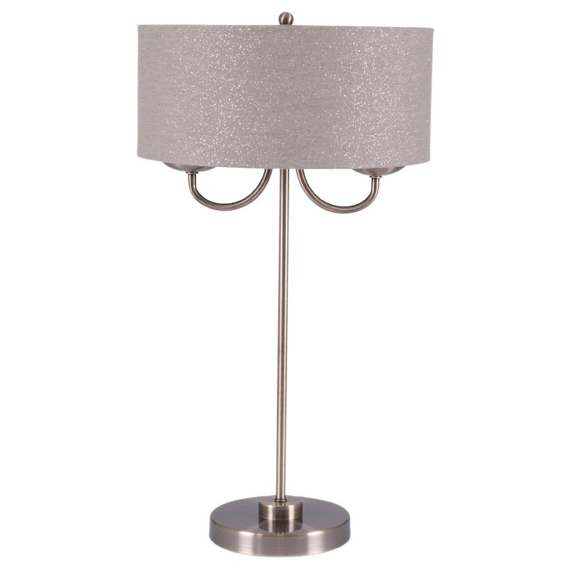 Antique Brass Metal Candelabra Table Lamp