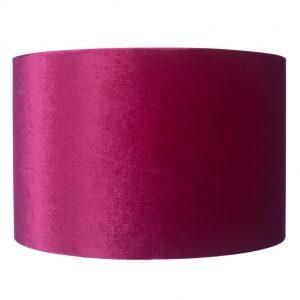 25cm Raspberry Velvet Cylinder Shade