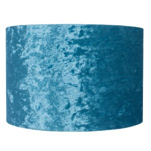 25cm Teal Crushed Velvet Cylinder Shade