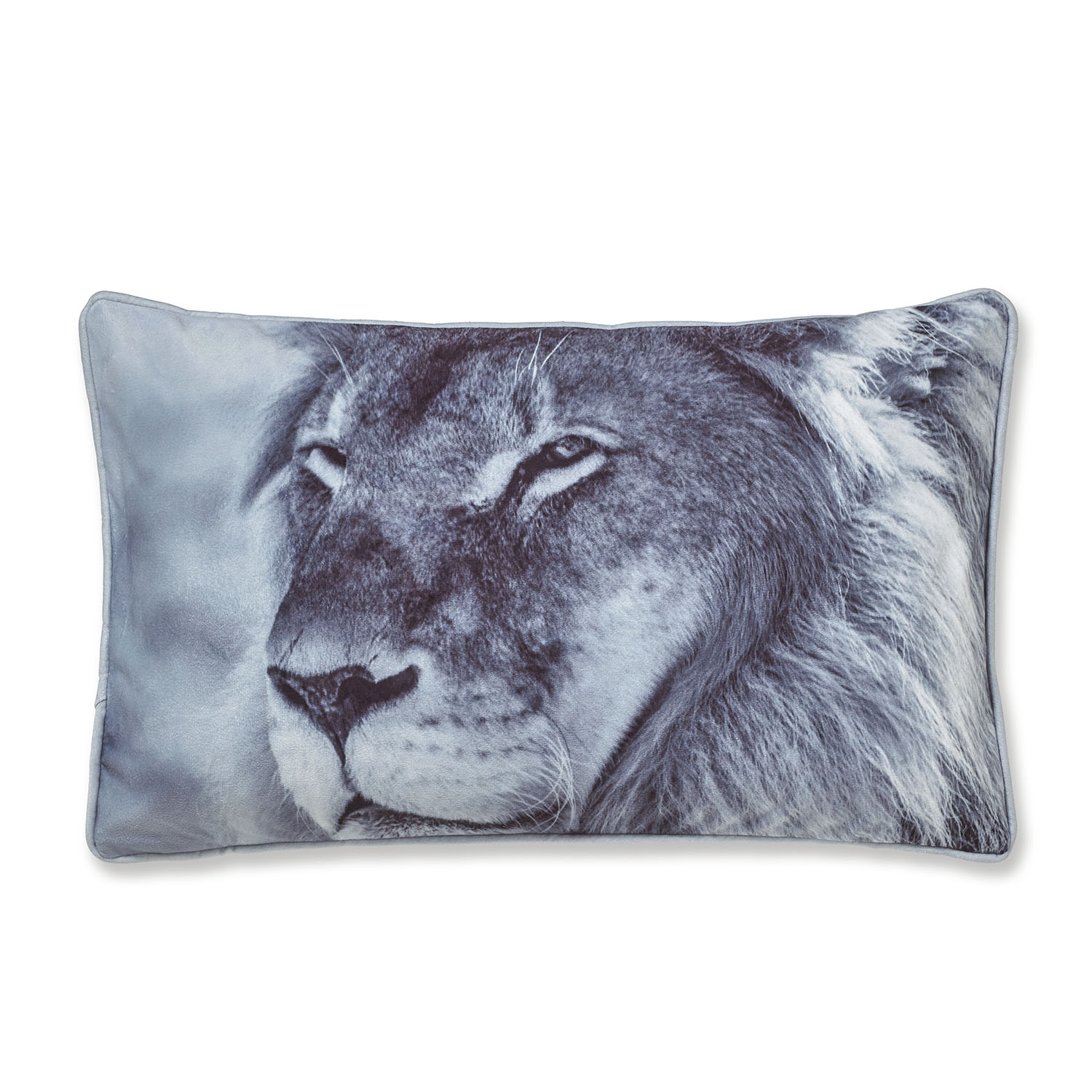 Catherine Lansfield Lion Filled Cushion Grey, 30x50cm