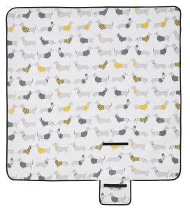 Silly Sausage Dogs Picnic Blanket