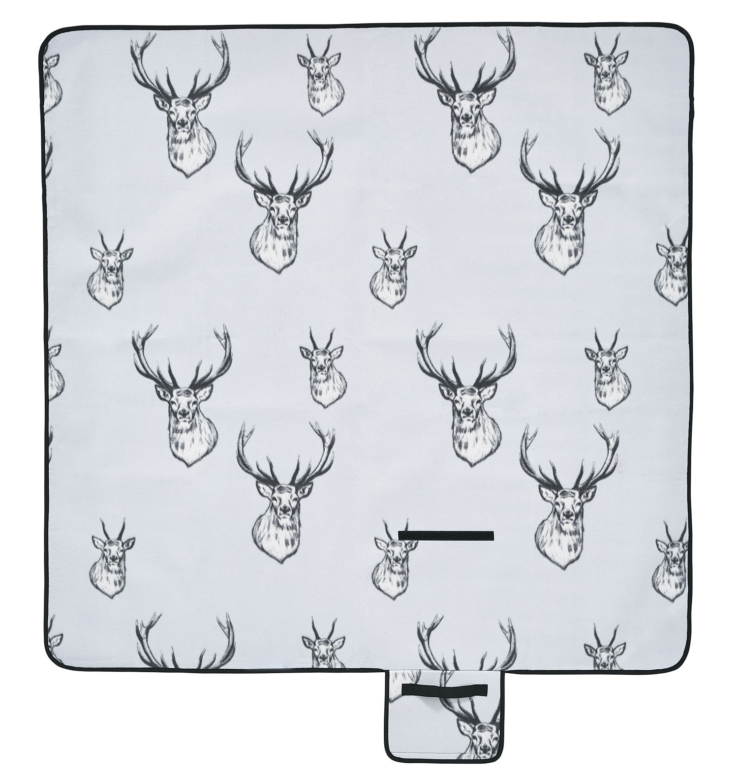 Catherine Lansfield Stag Picnic Blanket Silver