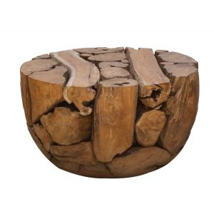 Ashdown Natural Teak Half Ball Coffee Table