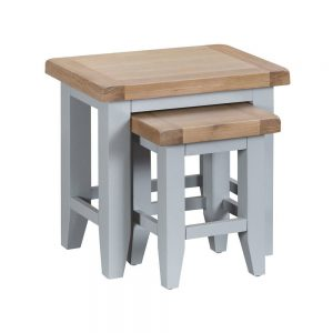 Henley Grey Nest of 2 Tables