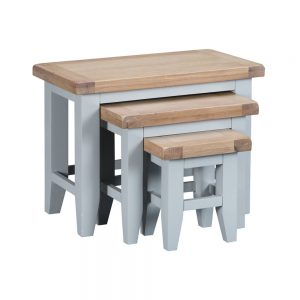 Henley Grey Nest of 3 Tables