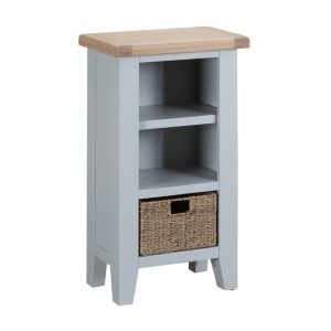Henley Grey Small Narrow Bookcase
