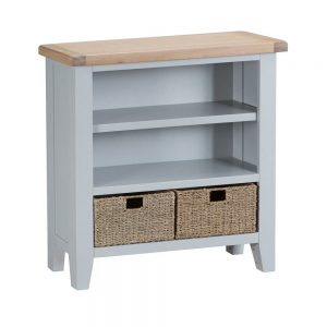 Henley Grey Small Wide Bookcase