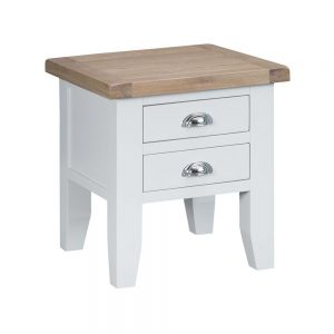 Henley White Lamp Table